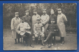 Carte Photo  Groupe D'Officiers - Personen