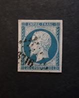 Empire No 14 A Nuance Bleu Clair Obl Pc 3716 Bureau De BONE , Constantine Algérie,  Indice 6 , TTB - 1853-1860 Napoléon III