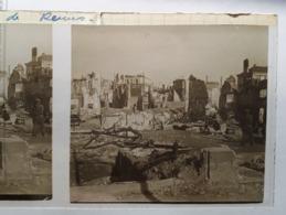Plaque De Verre Stéréo - Dans Les Ruines De REIMS - (2 Plaques) - Glasdias
