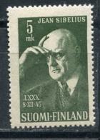 Finland 1945 319. 80th Anniversary Of The Birth Of Composer Jean Sibelius. Music - Music