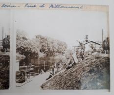 Plaque De Verre Stéréo - Bords De La Seine: Pont De Billancourt - Glass Slides