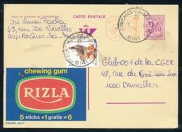 """PUBLIBEL Nr 2557F - Chewing Gum RIZLA - Cachet """"FORCHIES-LA-MARCHE 6141"""" - Publibels"""