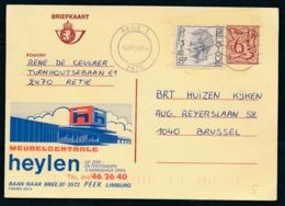 "PUBLIBEL Nr 2691N - Meubelcentrale HEYLEN - Cachet ""RETIE 2470"" - Enteros Postales"