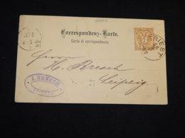 Austria 1887 Triest 2kr Brown Stationery Card__(L-28807) - Enteros Postales