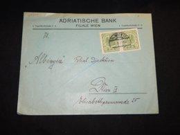 Austria 1921 Wien Adriatische Bank Business Cover__(L-29309) - 1918-1945 1st Republic