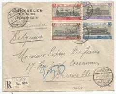 Egypt Egypte SG 189-192 Complete Set On Registered Cover 1933 Railway Congress Chemins De Fer - Egypt