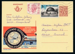 """PUBLIBEL Nr 2694N - R.M.T. Oostende-Dover - Oostende-Folkestone Cachet """"KAMPENHOUT"""" - Stamped Stationery"""