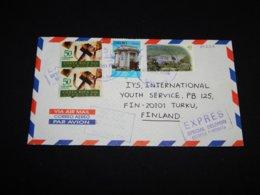 Costa Rica 1998 Air Mail Express Cover To Finland__(L-30222) - Costa Rica