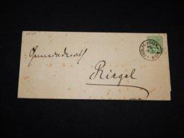 Germany 1880 Freiburg Letter To Riegel__(L-29185) - Briefe U. Dokumente