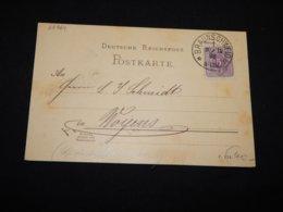 Germany 1888 Braunschweig 5pf Violet Card__(L-28864) - Germania