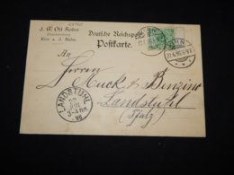 Germany 1896 Kirn J.G.Ott Sohn Business Card__(L-28963) - Briefe U. Dokumente