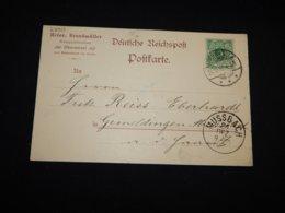 Germany 1897 Oberwesel Heinr. Brandmuller Business Card__(L-28913) - Covers & Documents