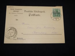 Germany 1901 Stralsund Gabelsberger Business Card__(L-28833) - Briefe U. Dokumente