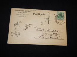 Germany 1915 Schorndorf Eisenmöbel Fabrik Business Card__(L-28862) - Briefe U. Dokumente