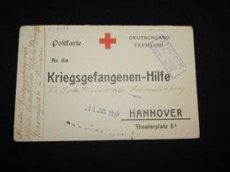 Germany 1917 Kriegsgefangenen-Hilfe Red Cross Card__(L-31197) - Brieven En Documenten