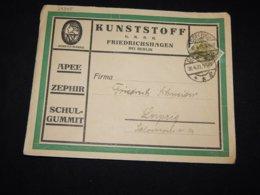 Germany 1921 Cöpenick Kunststoff Business Cover__(L-29345) - Briefe U. Dokumente