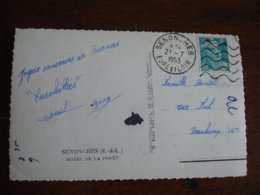 Senonches  Flamme 6 Lignes Courtes Sur Lettre - Storia Postale