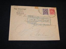 Germany 1922 Backnang Deutsche Bank Cancellation Cover__(L-29257) - Deutschland