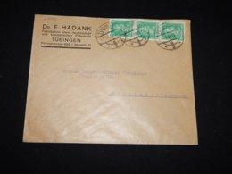 Germany 1928 Tubingen E.Hadank Business Cover__(L-29016) - Deutschland