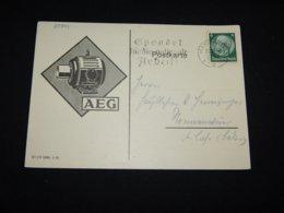 Germany 1933 Mannheim AEG Slogan Cancellation Card__(L-28844) - Briefe U. Dokumente