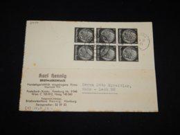 Germany 1939 Hamburg Karl Henning Briefmarkenhaus Business Card__(L-29150) - Briefe U. Dokumente