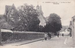 ANCENIS - La Rue Du Pont - Descente - Un Homme Et Son Cheval - Eglise - TBE - Ancenis