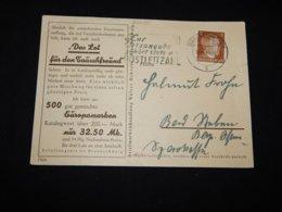 Germany 1944 Braunschweig Slogan Cancellation Card__(L-29050) - Lettres & Documents