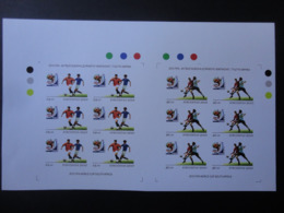 Kyrgyzstan 2010 PROOF  Imperforate Sheets Football World Cup South Africa  VF RRR - Fußball-Weltmeisterschaft