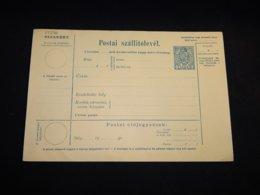 Hungary 10pf Blue Unused Stationery Card__(L-29296) - Postal Stationery