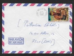 NLE CALEDONIE N° PA 234 Et 250 TABLEAU R. MASCART Et  VOL PARIS-NOUMEA SUR JOLIES ENVELOPPES - Briefe U. Dokumente