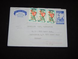 Nigeria 1969 Partial Diamond Perforation Stamps Aerogramme__(L-29822) - Nigeria (1961-...)