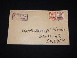 Pakistan 1940's Air Mail Cover To Sweden__(L-29628) - Pakistan