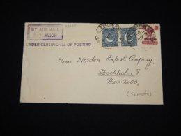 Pakistan 1950 Air Mail Cover To Sweden__(L-29625) - Pakistan
