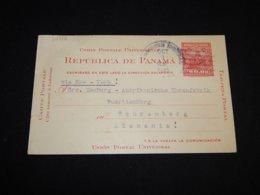 Panama 1925 2c Red Stationery Card To Germany__(L-30146) - Panama