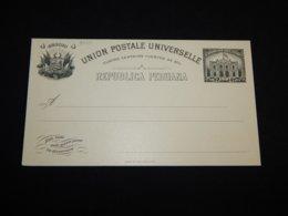 Peru 4c Black Unused Stationery Card__(L-30111) - Pérou