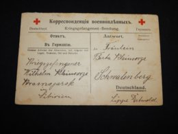 Russia 1918 Red Cross Card To Germany__(L-31196) - 1917-1923 Republiek & Sovjetrepubliek