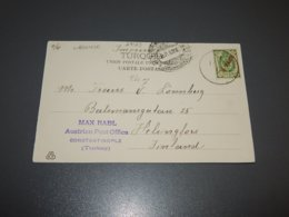 Russia Levant 1907 10 Para Red Overprint Stamp Postcard To Finland__(L-29123) - Levant (1885-1946)