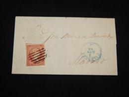 Spain 1856 4cu Red Letter__(L-30348) - 1850-68 Regno: Isabella II