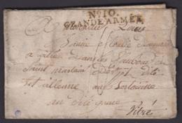 """FRANCE LETTRE DATE DE FREYTAIT 19/01/1808 """" N°10 GRANDE ARMEE """" VERS VITRE (7G)DC-4184 - Marcophilie (Lettres)"""