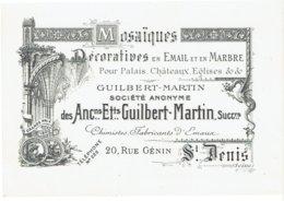 Carte Publicitaire Etablissements GUILBERT-MARTIN - Mosaïques - SAINT-DENIS - Pubblicitari
