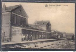 Carte Postale 59. Comines La Gare   Trés Beau Plan - France