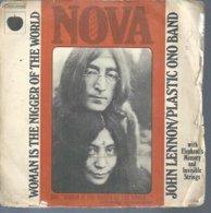 "45 Tours SP - JOHN LENNON / YOKO ONO - APPLES 05062  "" WOMAN IS THE NIGGER OF THE WORLD "" + 1 - Vinyl Records"