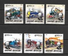 Guinea Bissau 2005 Steam Trains - Jules Verne MNH (D1570) - Trains