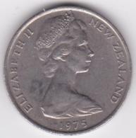 New Zealand. 20 Cents 1975 Elizabeth II. Copper-Nickel. KM# 36.1 - New Zealand