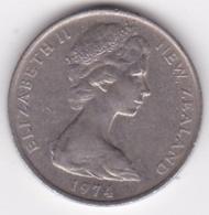 New Zealand. 10 Cents 1974 Elizabeth II. Copper-Nickel. KM# 41.1 - New Zealand