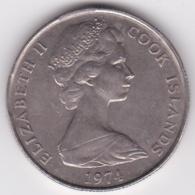 Cook Islands 50 Cents 1974  Elizabeth II. Copper-Nickel.  KM# 6.1 - Cook