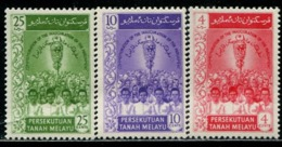 MY0826 Malaya 1959 Scepter And People 3V MNH - Malaysia (1964-...)