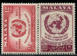 MY0829 Malaya 1958 Kuala Lumpur Peace Talks 2V MLH MNH - Malaysia (1964-...)