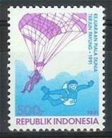 Mgm1471 SPORT PARACHUTESPRINGEN PARACHUTEJUMPING SPORTS FALLSCHIRMSPRINGEN INDONESIA 1991 PF/MNH  VANAF1EURO - Parachutting
