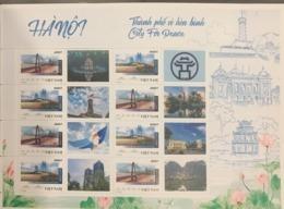 Viet Nam Vietnam MNH Perf Sheetlet 2019 With Ha Noi Vignette: Bridge / Bridges Of Viet Nam (Ms1110) - Vietnam